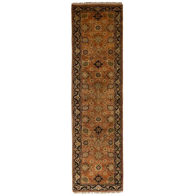 One-of-a-Kind Baldry Hand-Knotted Wool Orange Area Rug