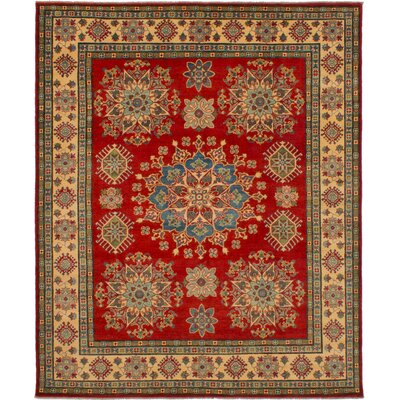 One-of-a-Kind Balham Hand-Woven Wool Red Area Rug