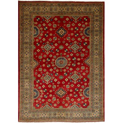 One-of-a-Kind Balham Hand-Knotted Wool Red Area Rug
