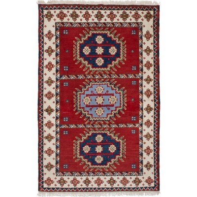 One-of-a-Kind Ballester Hand-Knotted Wool Red Area Rug