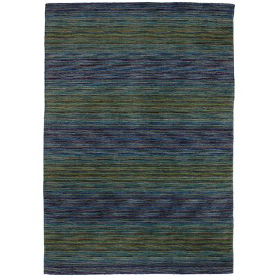 One-of-a-Kind Ballinderry Hand-Knotted Wool Dark Blue/Olive Area Rug
