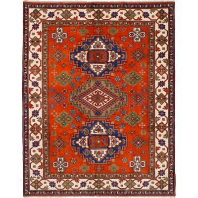 One-of-a-kind Ballester Hand-Knotted Wool Dark Copper Area Rug