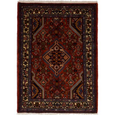 One-of-a-Kind Ballintoy Hand-Knotted Wool Red Area Rug