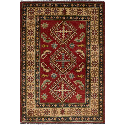 One-of-a-Kind Balham Hand-Knotted Wool Dark Red Area Rug