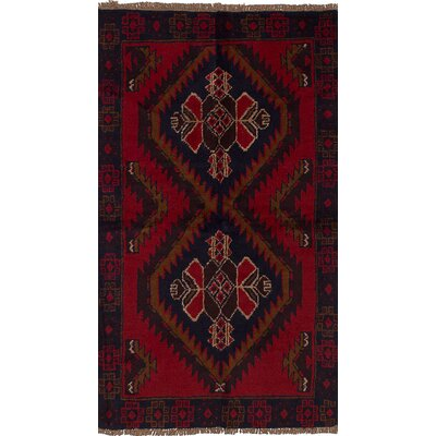 One-of-a-Kind Balis Hand-Knotted Wool Red Area Rug