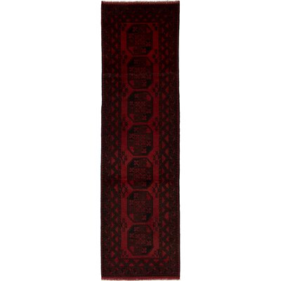 One-of-a-Kind Ballaghmore Hand-Knotted Cotton Red Area Rug