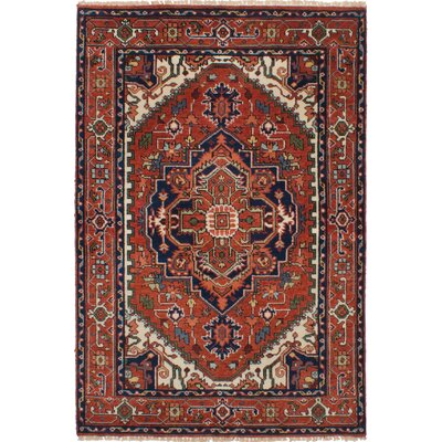 One-of-a-kind Baldry Hand-Knotted Wool Dark Copper Area Rug