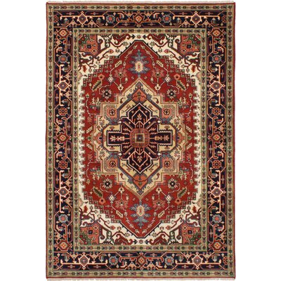 One-of-a-Kind Baldry Hand-Knotted Wool Red Area Rug