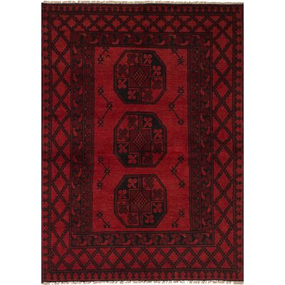One-of-a-Kind Ballaghmore Hand-Knotted Wool Red Area Rug