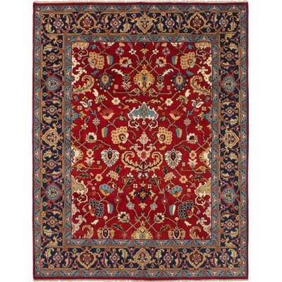 One-of-a-Kind Baldry Hand-Knotted Wool Red Area Rug Rug Size: Rectangle 710 x 10