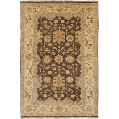 One-of-a-Kind Ballsallagh Hand-Knotted Wool Dark Brown Area Rug