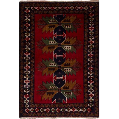 One-of-a-Kind Ballam Hand-Knotted Wool Red Area Rug