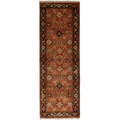 One-of-a-Kind Baldry Hand-Knotted Wool Light Red Area Rug