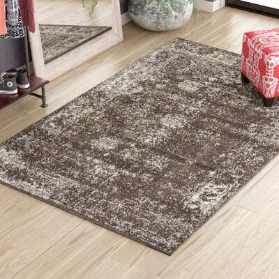 Brandt Brown Area Rug Rug Size: Rectangle 6 x 9