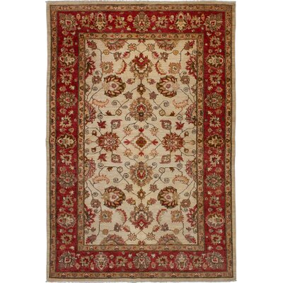 One-of-a-kind Beem Hand-Knotted Wool Cream Area Rug