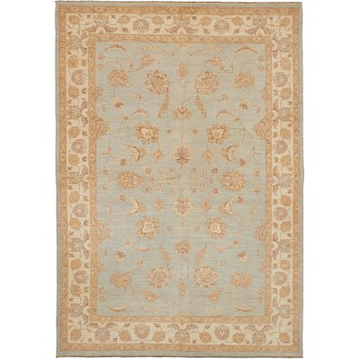 One-of-a-kind Joule Hand-Knotted Wool Light Blue Area Rug