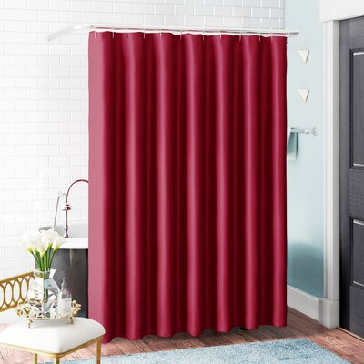 Samar Faux Silk Shower Curtain Set Color: Burgundy