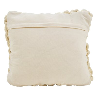Castillo Chunky Cable Knit Wool Throw Pillow Color: Ivory