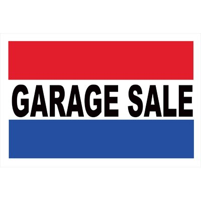 Garage Sale Banner Size: 24 H x 36 W