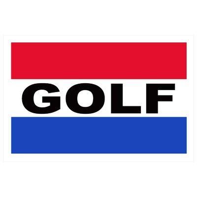 Golf Banner Size: 24 H x 36 W