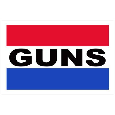 Guns Banner Size: 24 H x 36 W