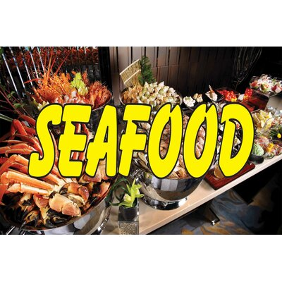 Seafood Banner Size: 24 H x 36 W