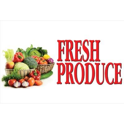 Fresh Veggies Banner Size: 30 H x 72 W
