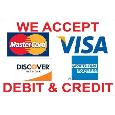 Visa Banner Size: 24 H x 36 W
