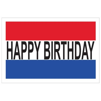Happy Birthday Banner Size: 30 H x 72 W
