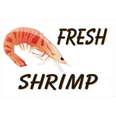 Shrimp Banner Size: 30 H x 72 W