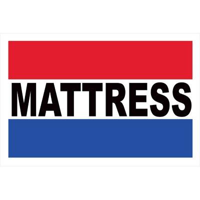 Mattress Banner Size: 30 H x 72 W