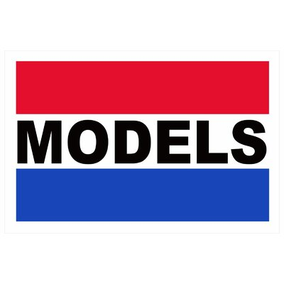 Models Banner Size: 24 H x 36 W