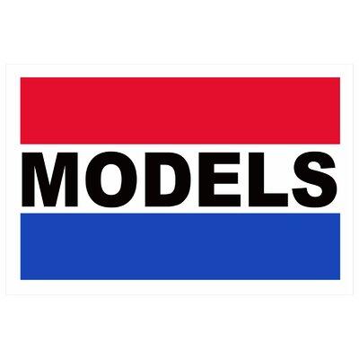 Models Banner Size: 24 H x 36 W
