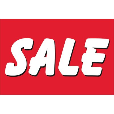 Sale Banner Size: 24 H x 36 W