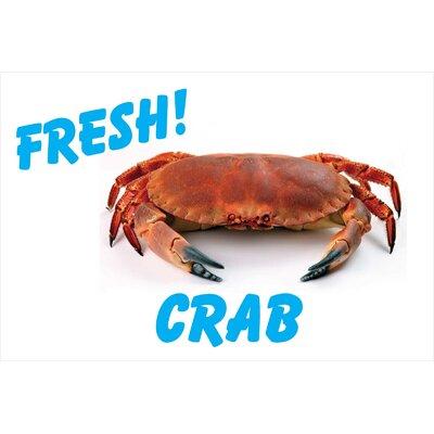 Fresh Crab Banner Size: 24 H x 36 W