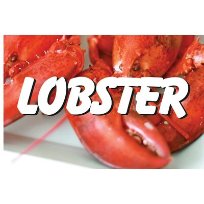 Lobster Banner Size: 24 H x 36 W