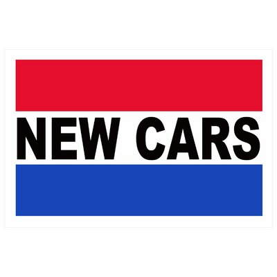 New Cars Banner Size: 24 H x 36 W