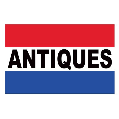 Antiques Banner Size: 24 H x 36 W