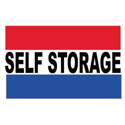 Self Storage Banner Size: 24 H x 36 W
