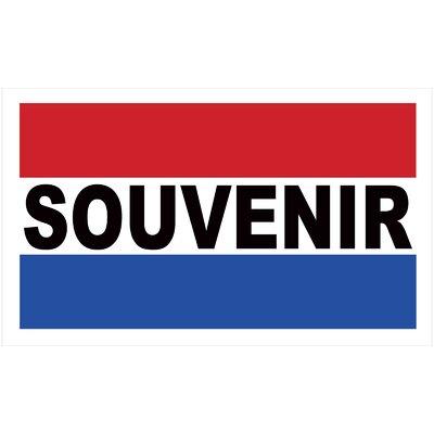 Souvenir Banner Size: 24 H x 36 W