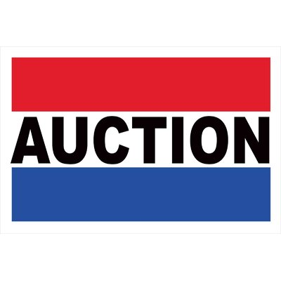 Auction Banner Size: 24 H x 36 W