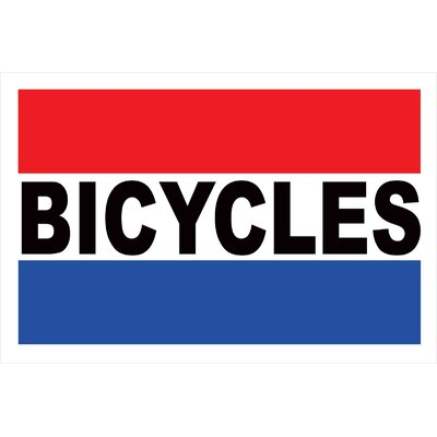 Bicycles Banner Size: 24 H x 36 W