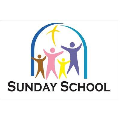 Sunday School Banner Size: 24 H x 36 W