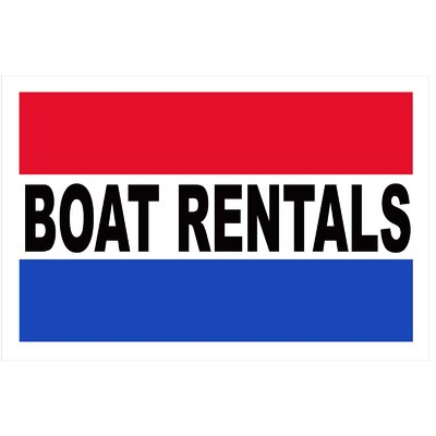 Boat Rentals Banner Size: 24 H x 36 W
