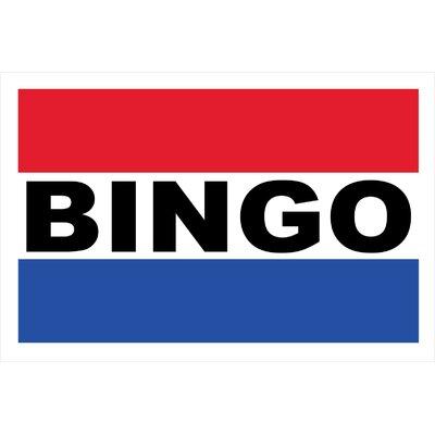 Bingo Banner Size: 24 H x 36 W