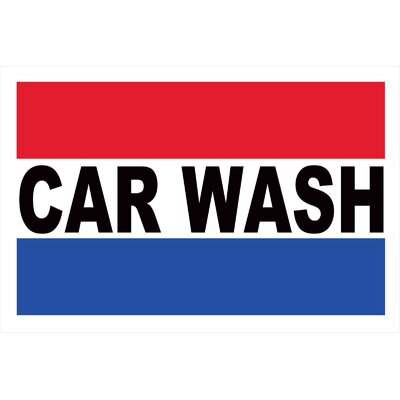 Car Wash Banner Size: 24 H x 36 W