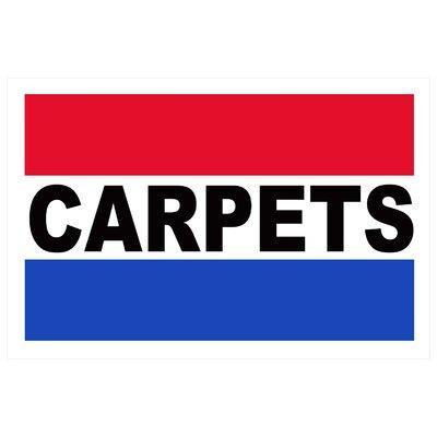 Carpets Banner Size: 24 H x 36 W
