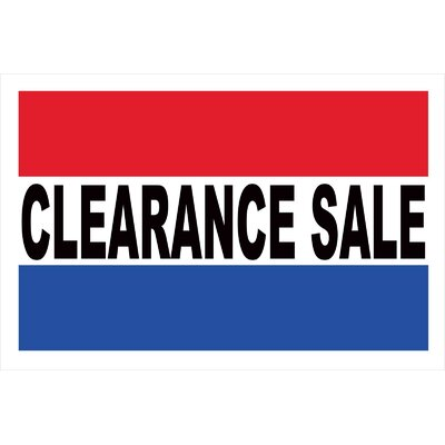 Clearance Sale Banner Size: 24 H x 36 W