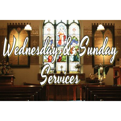 Church Service Banner Size: 24 H x 36 W
