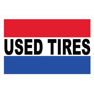 Used Tires Banner Size: 24 H x 36 W